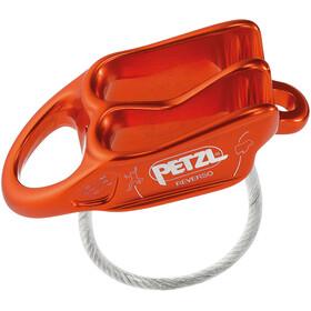Petzl Reverso Dispositivo di assicurazione arrampicata, rosso